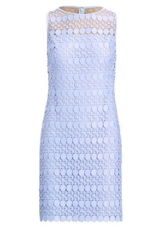 Ralph Lauren Lace-Mesh Sleeveless Dress