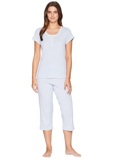 Ralph Lauren Lace Neck Capris Pajama Set