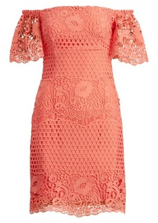 Ralph Lauren Lace Off-the-Shoulder Dress