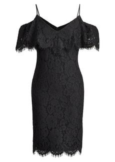 Ralph Lauren Lace Off-the-Shoulder Dress