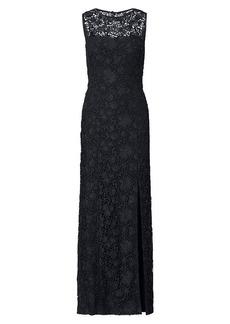 Ralph Lauren Lace Open-Back Gown