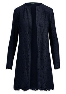 Ralph Lauren Lace Open-Front Jacket