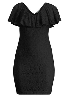 Ralph Lauren Lace-Overlay Dress