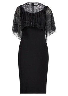 Ralph Lauren Lace-Overlay Jersey Dress