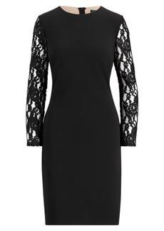 Ralph Lauren Lace-Panel Jersey Dress