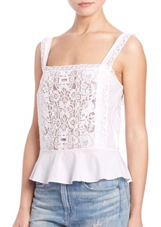 Ralph Lauren Lace Peplum Tank Top