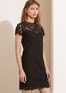 Lace Short-Sleeve Dress