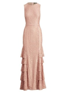 Ralph Lauren Lace Sleeveless Gown
