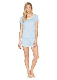 Ralph Lauren Lace T-Shirt Boxer Pajama Set