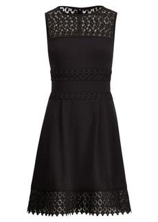 Ralph Lauren Lace-Trim Fit-and-Flare Dress