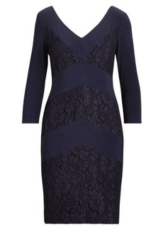 Ralph Lauren Lace-Trim Jersey Dress