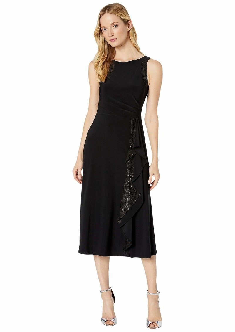 Ralph Lauren Lace-Trim Jersey Dress
