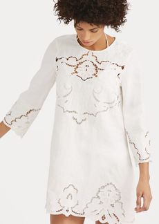 Ralph Lauren Lace-Trim Linen Shift Dress