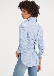Ralph Lauren Lace-Up-Back Cotton Shirt