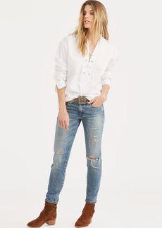 Ralph Lauren Lace-Up Broadcloth Shirt