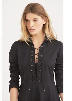 Ralph Lauren Lace-Up Cotton Shirtdress