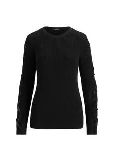 Ralph Lauren Lace-Up Cotton Sweater