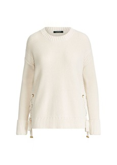 Ralph Lauren Lace-Up Cotton Sweater