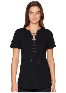 Ralph Lauren Lace-Up Cotton Top