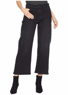Ralph Lauren Lace-Up Cropped Flare Jeans in Worn Black Wash