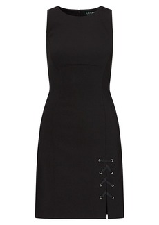 Ralph Lauren Lace-Up-Hem Dress