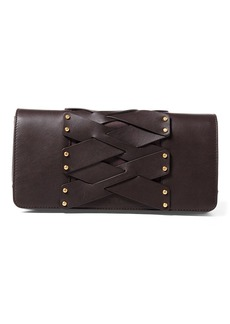 Ralph Lauren Lace-Up Leather Wendy Clutch