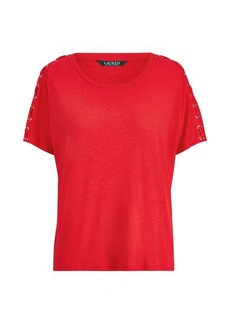Ralph Lauren Lace-Up-Placket T-Shirt