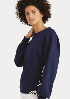Ralph Lauren Lace-Up Pullover Sweatshirt