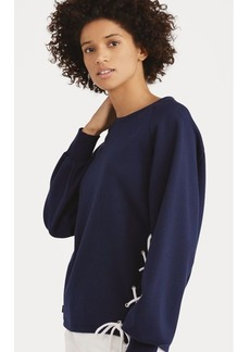 Ralph Lauren Lace-Up Pullover Sweatshirt