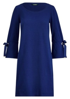 Ralph Lauren Lace-Up-Sleeve Cotton Dress