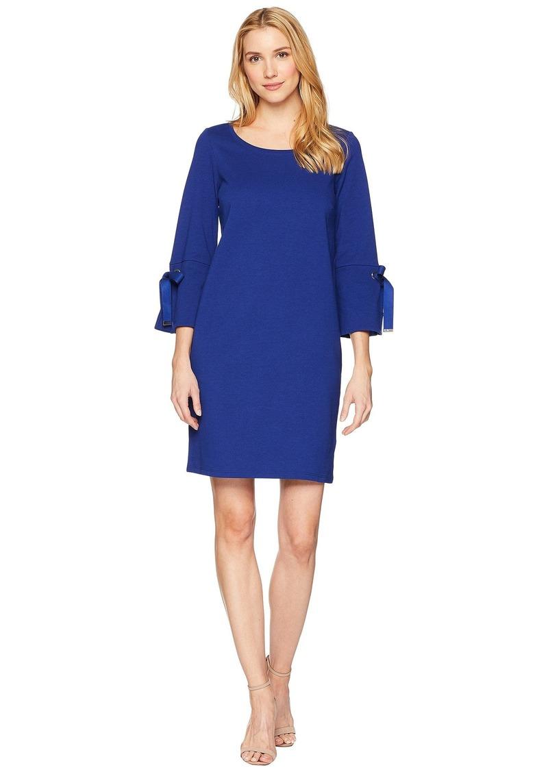 Ralph Lauren Lace-Up Sleeve Cotton Dress
