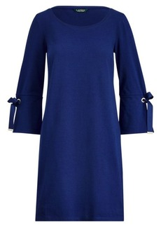Ralph Lauren Lace-Up-Sleeve Cotton Dress