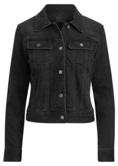 Ralph Lauren Lace-Up-Sleeve Denim Jacket