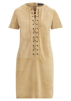 Lace-Up Suede Dress