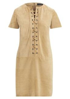 Ralph Lauren Lace-Up Suede Dress