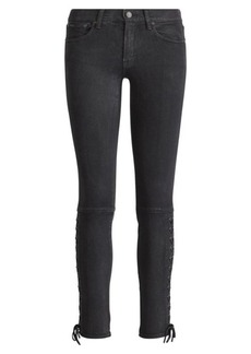 Lace-Up Tompkins Skinny Jean