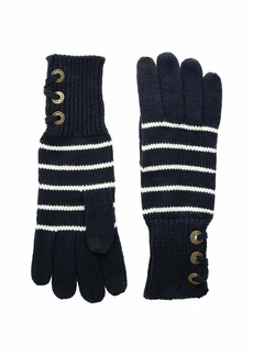 Ralph Lauren Lace-Up Touch Gloves with Metal Grommets