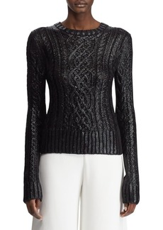 Ralph Lauren Lacquered Cable-Knit Sweater