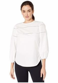 Ralph Lauren Ladder-Trim Cotton Shirt