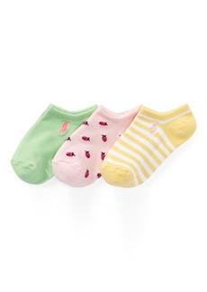 Ralph Lauren Ladybug Ankle Sock 3-Pack