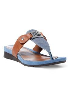 Ralph Lauren Lakin Suede–Leather Sandal
