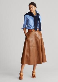 Ralph Lauren Lambskin A-Line Skirt