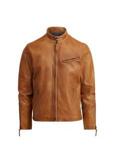 Ralph Lauren Lambskin Café Racer Jacket