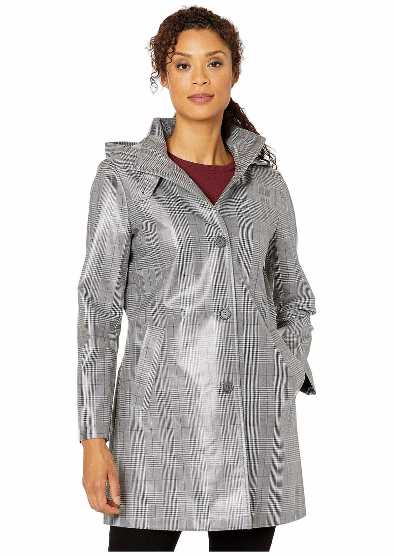 Ralph Lauren Laminated Plaid Raincoat