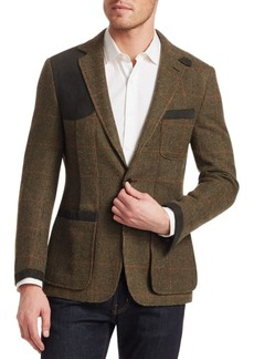 Ralph Lauren Large Wool Tick Weave Windowpane Sport Jacket