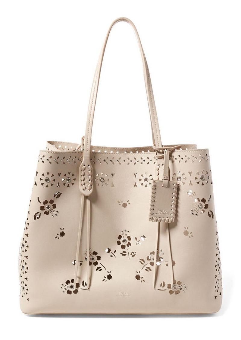 2ce4973667 Ralph Lauren Laser-Cut Floral Leather Tote