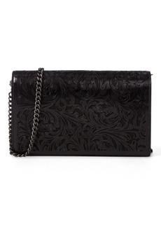 Ralph Lauren Laser-Cut Leather Chain Wallet