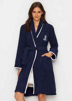 Lauren Ralph Lauren + Classic Shawl Collar Cable Robe
