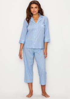 Lauren Ralph Lauren + Classic Stripe Woven Pajama Set