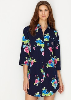 Lauren Ralph Lauren + Floral Print Knit Sleep Shirt